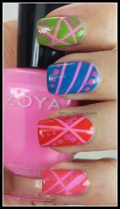 http://www.bettysbeautybombs.com/2014/05/03/zoya-tickled-collection/ / #zoyanailpolish Nail Art using the entire Zoya Tickled Collection