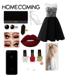 """Homecoming-lace"" by stayfabulous030 ❤ liked on Polyvore featuring Steve Madden, Balmain, Belk & Co., Jaeger and Lime Crime"