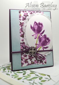 Stampin' Up! Australia - Color Coach  Stampin' Up! Lotus Blossom and Painted Petals
