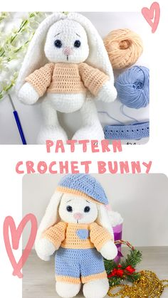 Diy Crochet And Knitting, Crochet Rabbit, Crochet Mouse, Cute Crochet, Crochet Animal Patterns, Crochet Patterns Amigurumi, Handmade Toys, Handmade Ideas, Etsy Handmade