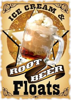 "14"" Root Beer Floats Ice Cream Concession Trailer Food Truck Sign Sticker Decal #SolidVisionStudio"