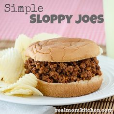 Simple Sloppy Joes - Real Mom Kitchen