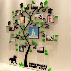 Photo Frame Family Tree Wall Decal Stickers Living room Bedroom Home Decor Bathroom Wall Stickers, Cheap Wall Stickers, Wall Stickers Home Decor, Colorful Picture Frames, Art Vinyl, Acrylic Wall Art, Acrylic Photo, Metal Tree Wall Art, Metal Art