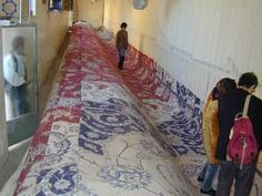 Persian rug being made- it's HUGE!