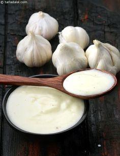 Lebanese Garlic Sauce recipe | Lebanese Recipes | by Tarla Dalal | Tarladalal.com | #22579