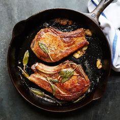 Though it may seem like a counterintuitive practice, extra flipping is the secret to the golden-brown crust on these chops.
