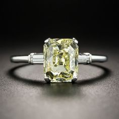 A unique and unusual diamond cut--a mix between a half cushion-cut/half emerald-. Yellow Diamond Rings, Diamond Cuts, Yellow Diamonds, Pink Sapphire, Silver Jewellery Online, Diamond Jewelry, Jewelry Sites, Solitaire Engagement, Yellow Diamond Engagement Ring