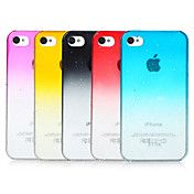 Bubbles kleurverloop Transparant Back Case voor iPhone 4/4S (assorti kleur)