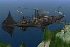 Steampunk Airship by Sky Murati #airship #aeronef