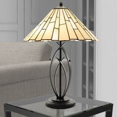 River of Goods Contemporary 23 Inch High Stained Glass Table Lamp