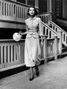 Mollie Parnis - July 1948 - Vogue - Photo by Frances McLaughlin