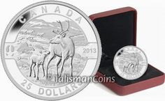 Canada 2013 Oh! Canada Series #08 - Mother Caribou with Baby Calf $25 Pure Silver Proof