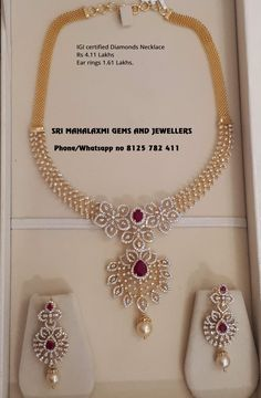 Jewelry Stores Near Me Open Now above Kinsley Armelle Jewellery Near Me these Earring Organizer Homemade provided Wedding Diamond Necklace Set With Price Diamond Necklace Set, Diamond Jewelry, Dimond Necklace, Gold Necklace, Bridal Necklace, Gold Jewelry, Jewelry Necklaces, Armelle, Gold Jewellery Design