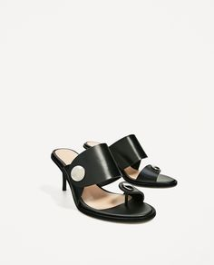 Black mules from Zara