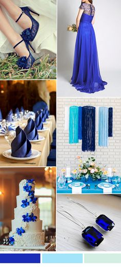 concord blue wedding color ideas and lace bridesmaid dresses