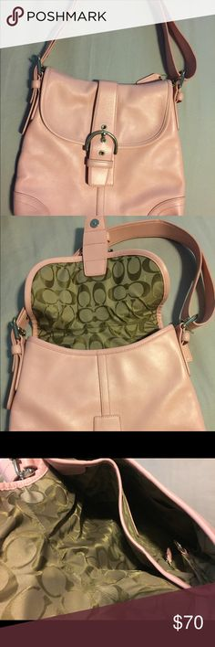 Brand New Pink Coach Purse Never been used, pastel pink. Coach Bags Shoulder Bags