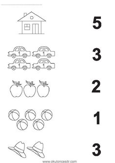Number matching worksheet cards and preschool kindergarten . - Szilvia Szabó - Welcome to Pin World Preschool Writing, Numbers Preschool, Preschool Learning Activities, Preschool Curriculum, Teaching Numbers, Printable Preschool Worksheets, Kindergarten Math Worksheets, Preschool Kindergarten, Worksheets For Kids