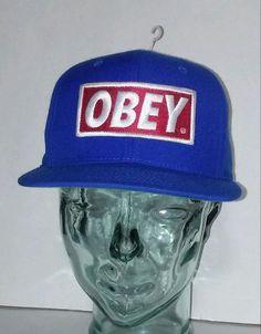 Obey Blue Skateboarding Baseball Cap Hat #Obey #BaseballCap