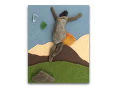 Wall hanging creative pebble art made with pebble & by yasavas