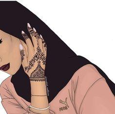 Image about girl in Art by Gutta Gomes on We Heart It – Hijab Fashion 2020 Girly M, Turban Style Hijab, Hijab Drawing, Henna, Islamic Cartoon, Hijab Cartoon, Hijab Stile, Islamic Girl, Black Girl Aesthetic