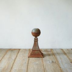 Aged Iron Sphere Finial