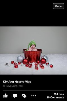 Baby first Christmas picture