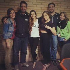 Las finalista del Chica E Venezuela 2013, Andrea Gómez, Hassnel Caro y Rosina visitaron a los vaqueros de De Nuevo en la Mañana