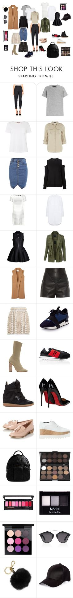 """Working capsule make-up artist"" by lev4yka on Polyvore featuring мода, 3.1 Phillip Lim, Alexander Wang, MaxMara, Dorothy Perkins, Vera Wang, VILA, Mulberry, LE3NO и Balenciaga"