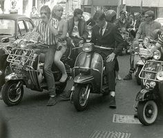Mods on scooters in London, 1979 | | Scooter, Lambretta, Vespa, 1970's & 80's
