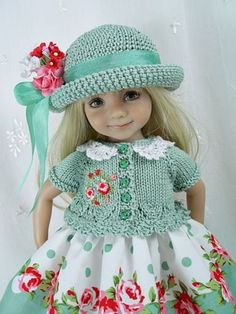 """Outfit-for-Dianna-Effner-Little-Darling-13""""-Doll-by-Ulla-Dots-n-Roses"""