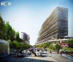 Mario Cucinella Architects & Studio Land. Veneto Green City - Masterplan, Dolo, Italia, 2011