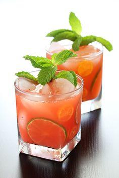 Strawberry and Kumquat Caipirinha