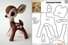 Amazing Home Sewing Crafts Ideas. Incredible Home Sewing Crafts Ideas. Felt Crafts Patterns, Plushie Patterns, Animal Sewing Patterns, Doll Patterns, Sewing Stuffed Animals, Stuffed Animal Patterns, Sewing Toys, Sewing Crafts, Fabric Animals