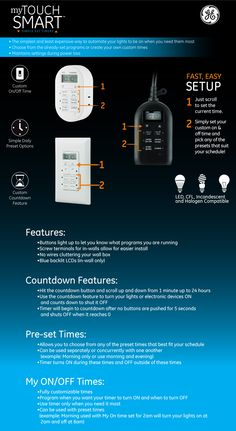 Choose the correct timer for your needs. My Touchsmart Timers — Jasco Products Company.