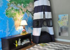Map Wall and Canopy