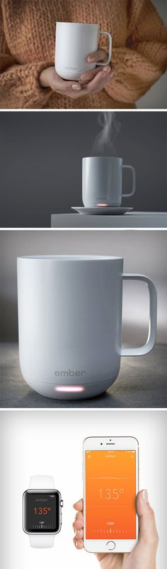 Ember has done it again – using the same technology as the ever popular travel mug, Ember has developed the Ceramic Mug. This mug is pretty smart too – there's no on/off switch here instead, the mug detects when there's liquid inside and then prompts the user to select their desired temperature through the app. BUY NOW!