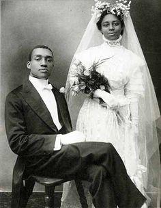 Wedding portrait by Harlem Renaissance photographer James Van Der Zee, about 1910 Harlem, NY