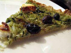 Tarte pesto basilic et courgettes rapées => trop bon !