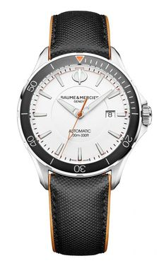 Baume & Mercier's affordable Clifton, Ref. 10337. More @ http://www.watchtime.com/wristwatch-industry-news/industry/5-major-trends-at-sihh-2017-will-baselworld-follow-suit/ #baumeetmercier #watchtime #watchnerd #SIHH2017