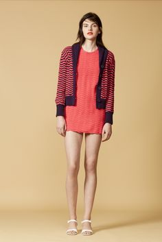 Ripple crochet casual dress suit ahhhhhhh love it!! The shape of the sweater, with the shawl collar, is SO wearable. And the dress is too freakin' cute. Orley Resort 2016