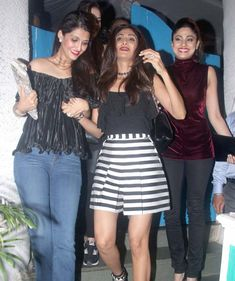 Shamita Shetty, Shilpa Shetty and a friend spotted in Bandra. #Bollywood #Fashion #Style #Beauty #Hot #Sexy