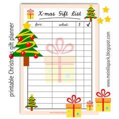 Free printable Christmas gift list - ausdruckbare Geschenkliste - freebie