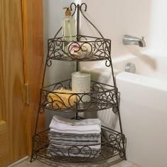 Princess House Corner Stand. I would use this on the kitchen countertop to hold fruits & vegetables. We eat a lot of them so I need these big baskets!