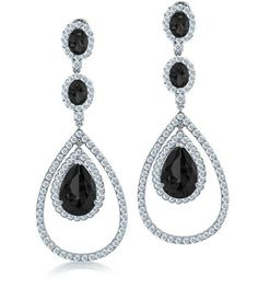Bling Jewelry Simulated Onyx CZ Triple Teardrop Earrings Silver Plated *** You can find more details by visiting the image link. (This is an affiliate link) Prom Earrings, Purple Earrings, Opal Earrings, Chandelier Earrings, Sterling Silver Earrings, Teardrop Earrings, Purple Chandelier, Black Earrings, Bride Earrings