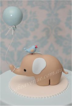The divine baby elephant from Style Me Gorgeous made into a precious cake topper by Cake Avenue!