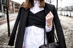 15 Next-Level Ways to Wear Strapless Tops Over Button-Down Shirts | StyleCaster