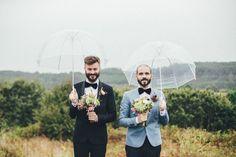 Abandoned Warehouse Wedding in Spain: Alberto + Yago