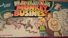 Madcap Monkey Business Retro Vintage Board Game by billingsleyson