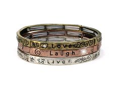 """Live, Laugh, Love"" Bracelet Set"