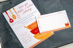 Shower Invites: Kitchen themed Bridal Shower invitation PLUS matching by geldesign